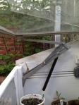 Properly installed Univent opening the cold frame lid.