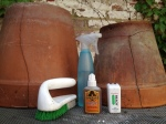 Gorilla Glue, scrub brush, water, dental floss (the cheap kind works better).