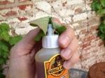 Clean your glue tip before replacing cap.