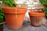 The next day: Two pots repaired and ready for use!