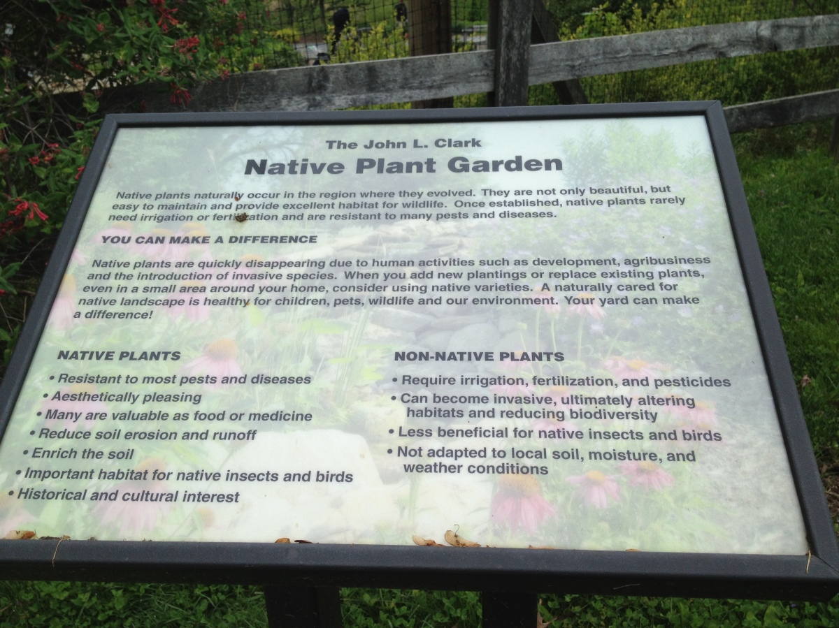 Alongside the entrance to the 3-acre Native Plant Honors Garden