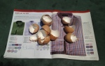 Place dried eggshells inside the middle of an old magazine, catalog or newspaper section.
